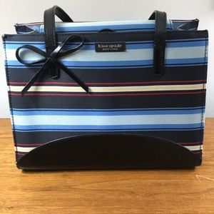 NWOT Kate Spade linen/leather small satchel